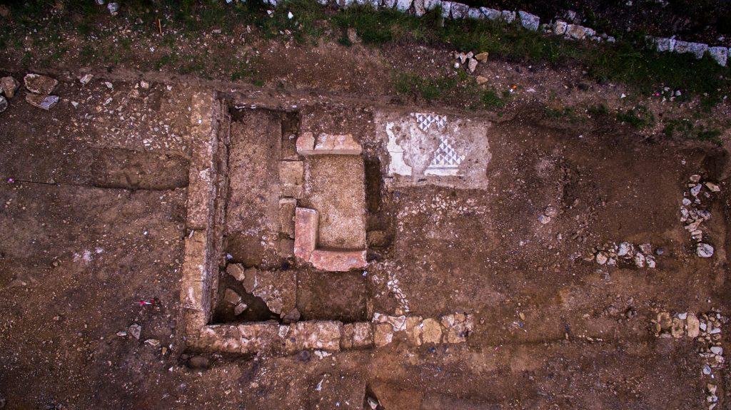 Bâtiment thermal, agglomération antique du Castellas, Opération préventive INRAP/CABT, Colline de l'Yeuse, 2017, Murviel-lès-Montpellier (34)