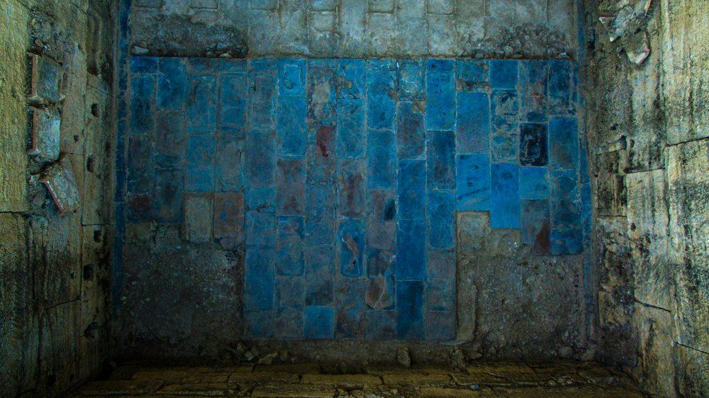 Détail sol pièce de la Zone Monumentale, Agglomération antique du Castellas, 2016, Murviel-lès-Montpellier (34)