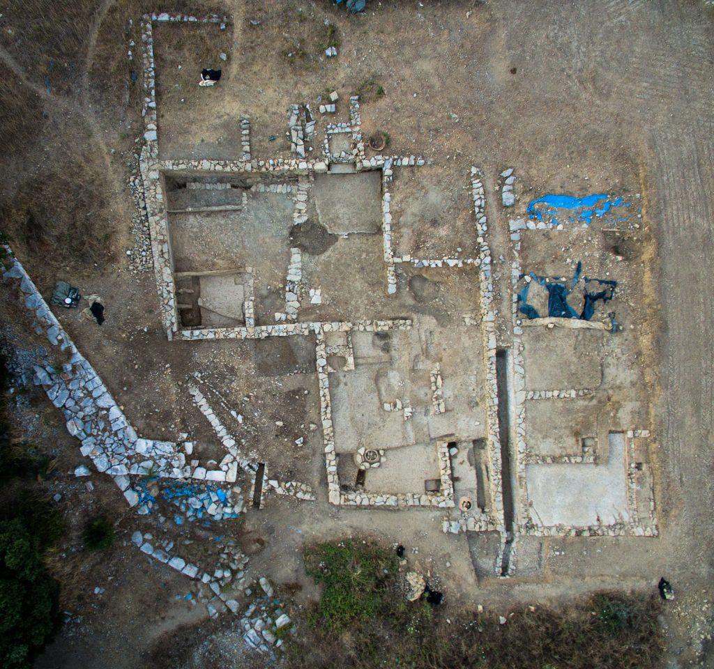 Habitat de la ville basse et rempart, Agglomération antique du Castellas, 2017, Murviel-lès-Montpellier (34)