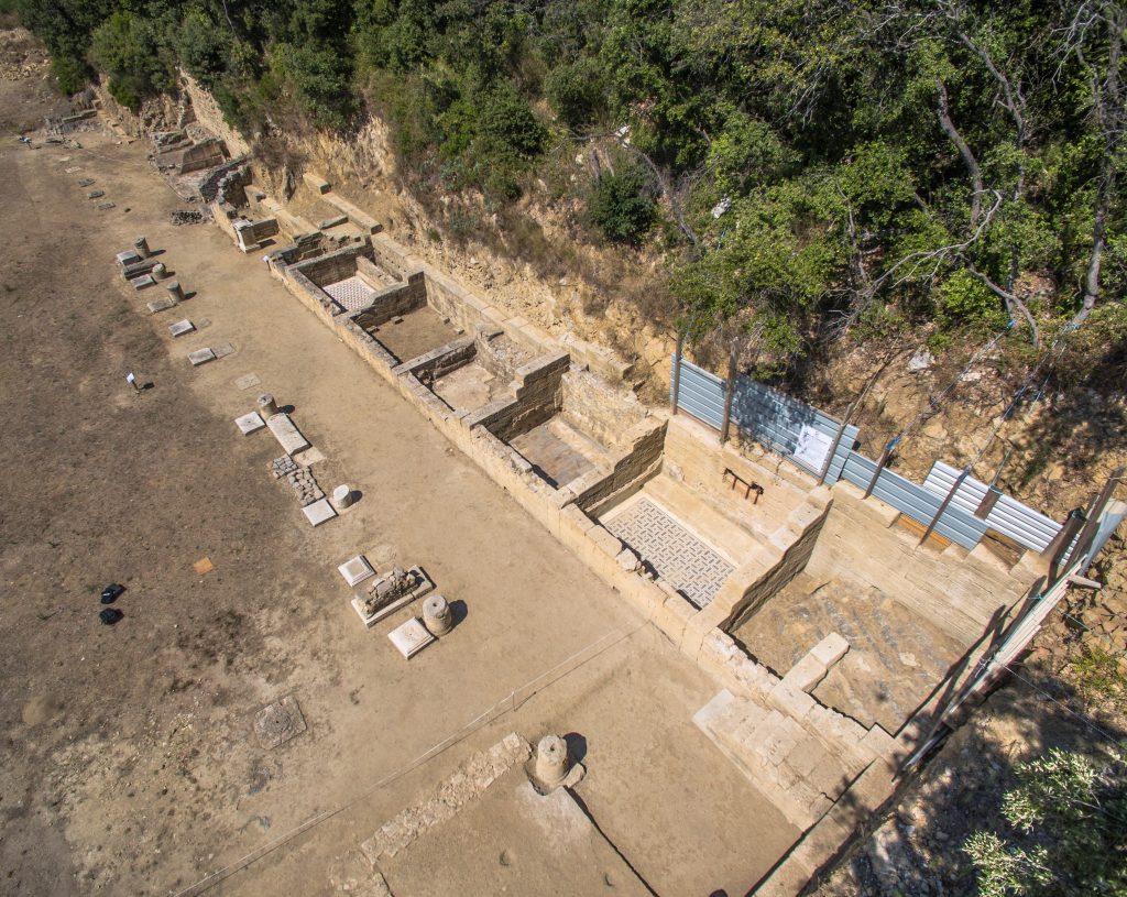 Pièces de la zone monumentale, Agglomération antique du Castellas, Murviel-lès-Montpellier (34)